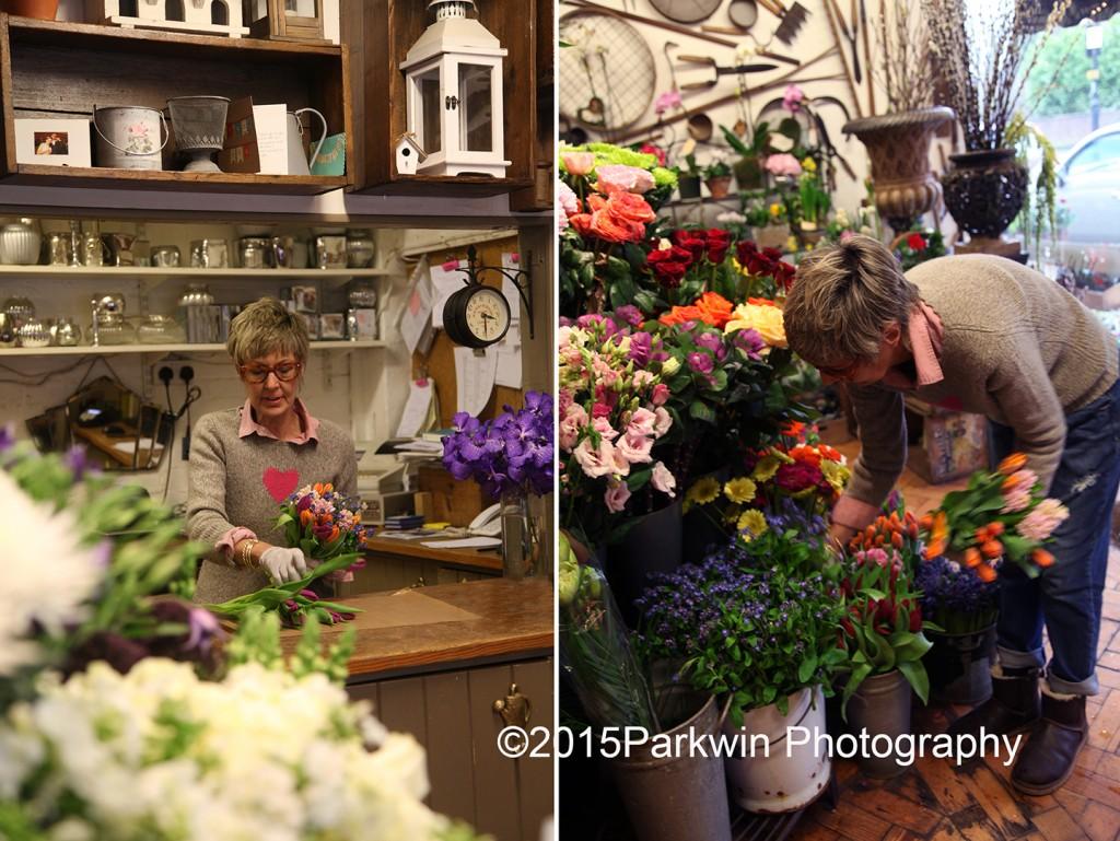 Susie working in The Flower Shop