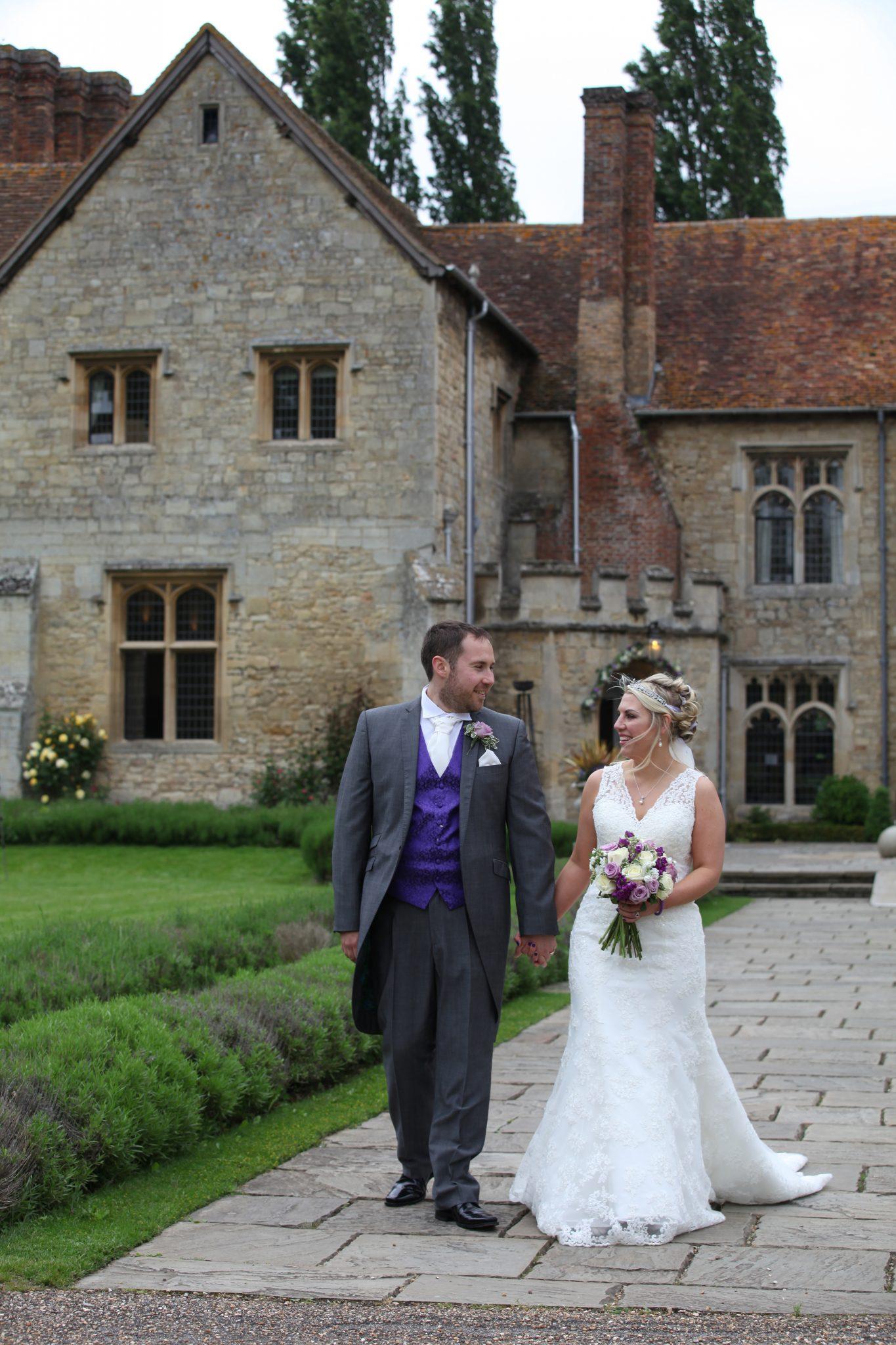 Bride and Groom Notley Abbey