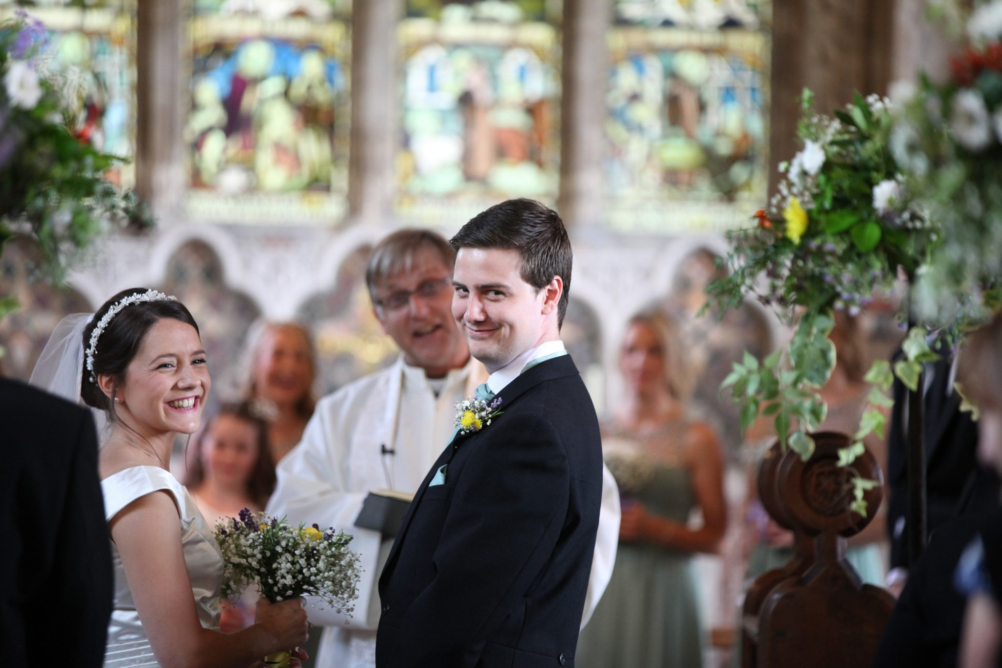 wedding ceremony All Saints Church Marsworth
