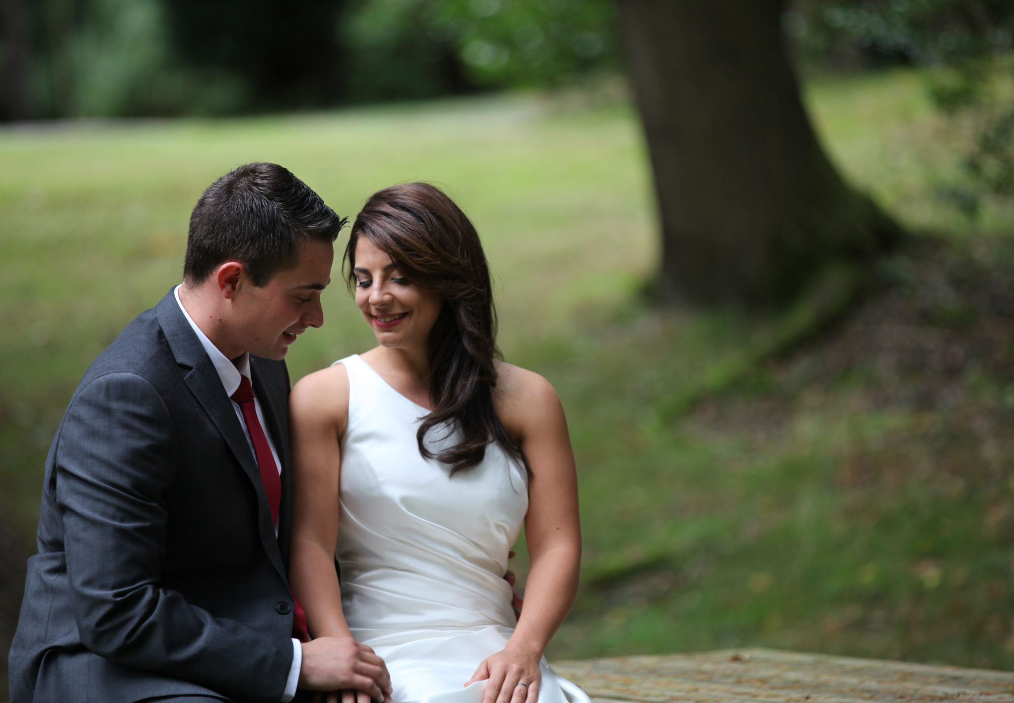 bride and Groom at Laura Ashley, The Manor