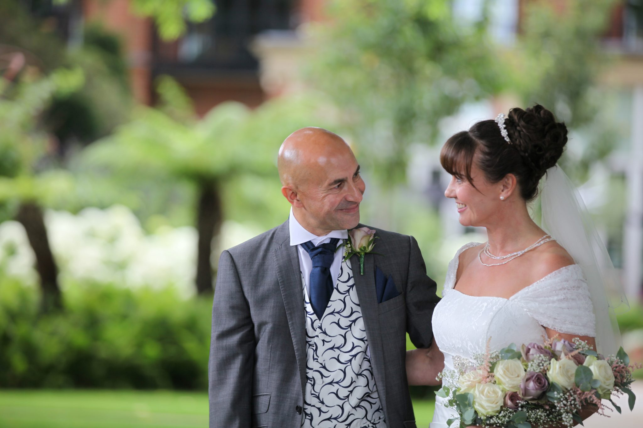 bride and Groom, The Grove, Flowers by Maples Flowers