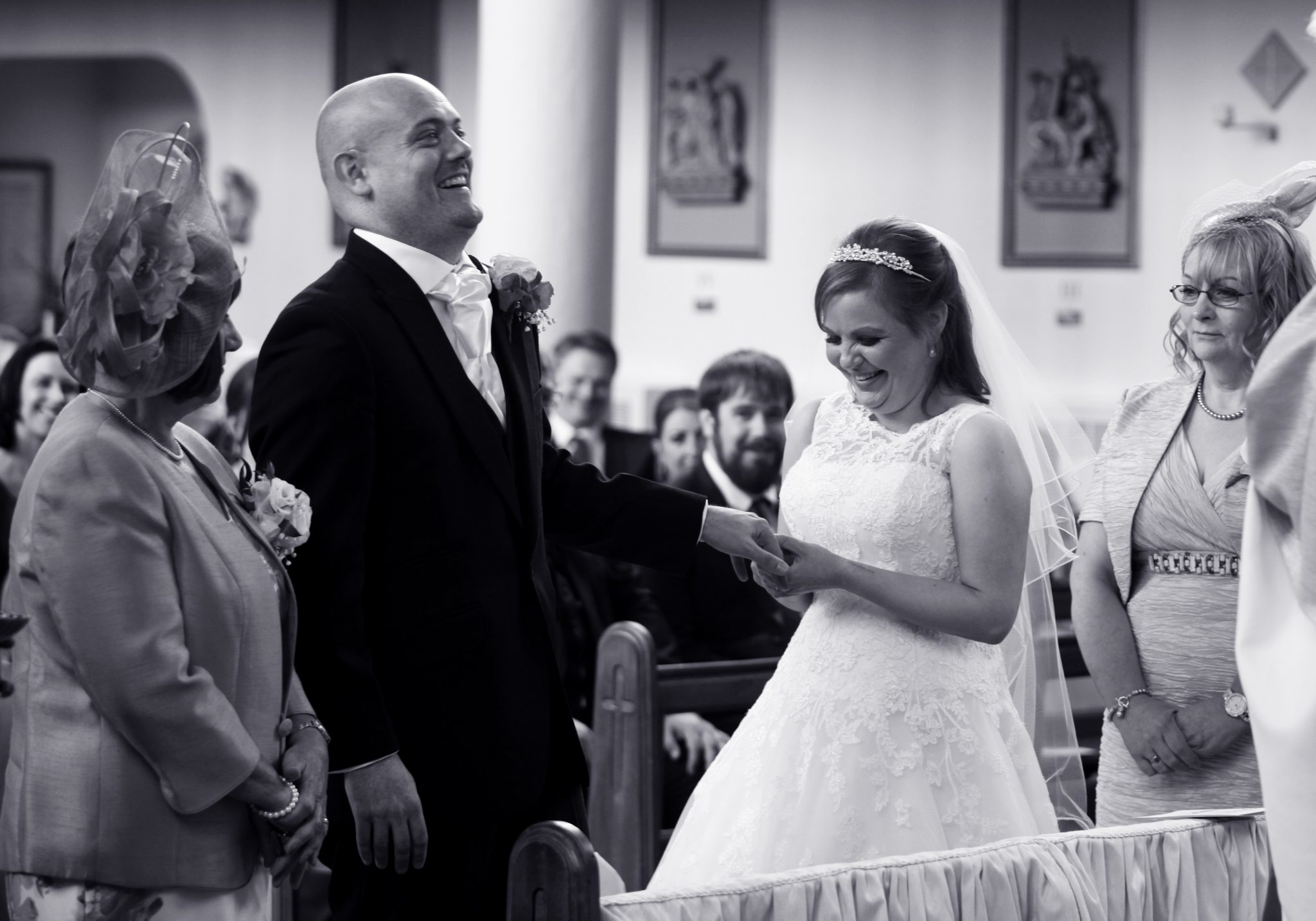 Wedding ceremony, Sacred Heart, Bushey