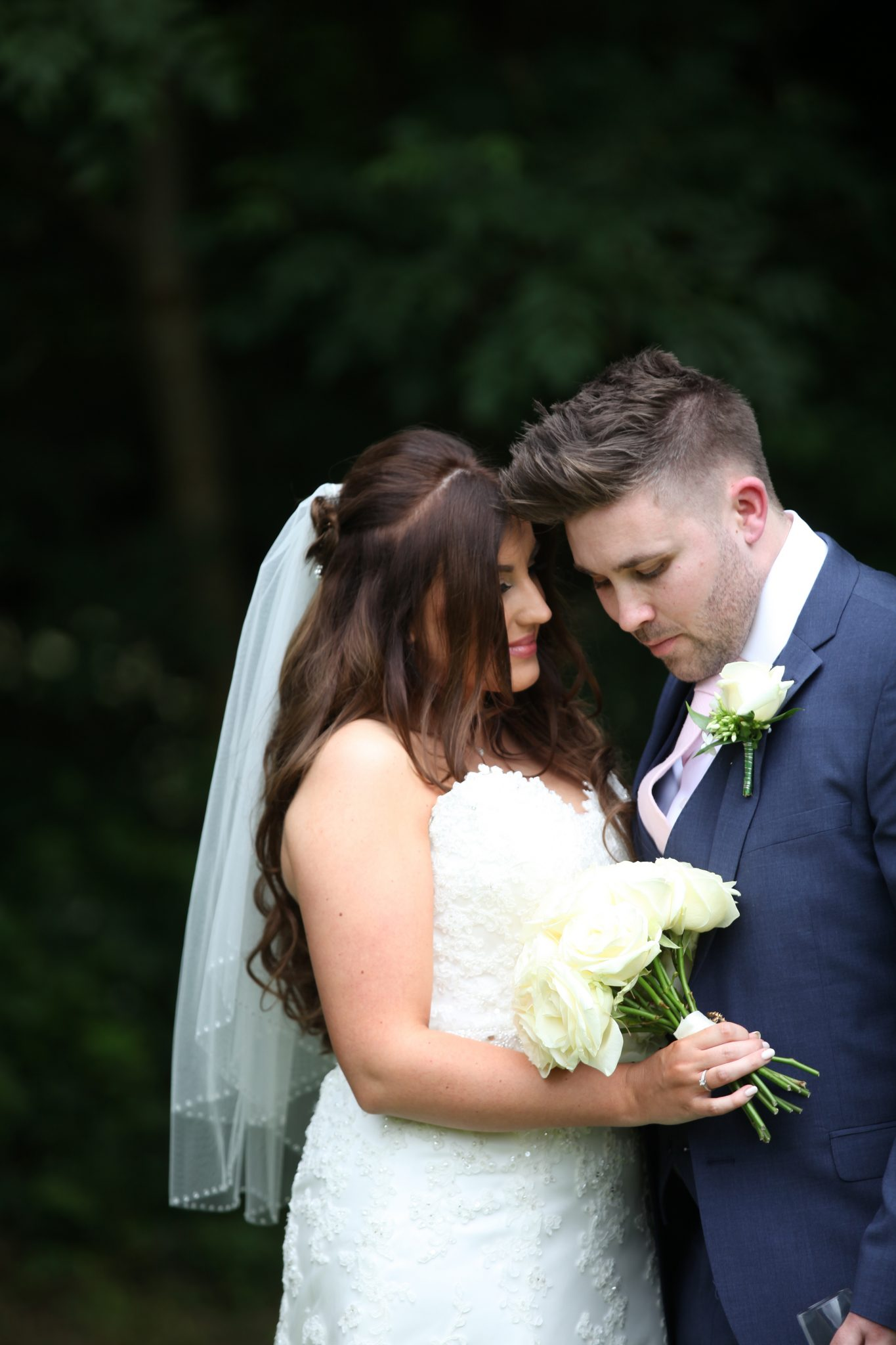 Bride and groom High Elms Manor