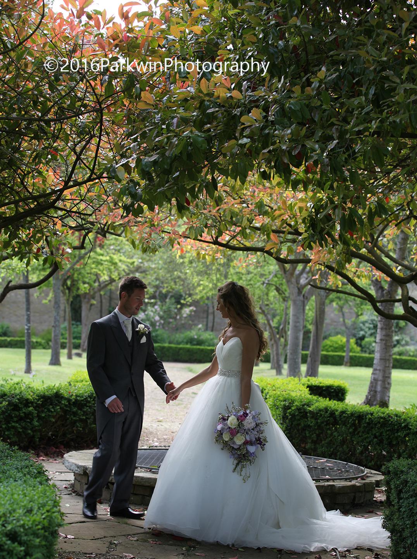 Bride and groom, Hanbury Manor