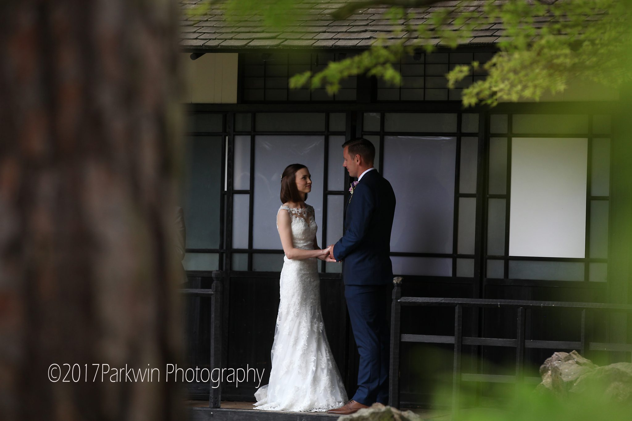 Wedding ceremony Japanese Tea House Fanhams Hall