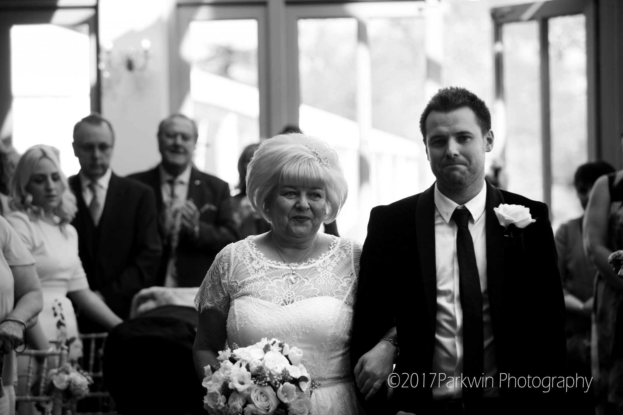 proud son with Mum at Wedding